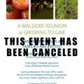 Waldorf Reunion @ Growing to Give Canceled